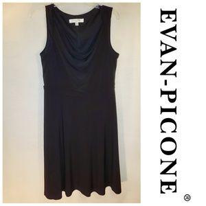 Evan-Picone Little Black Dress Sleeveless Sheath